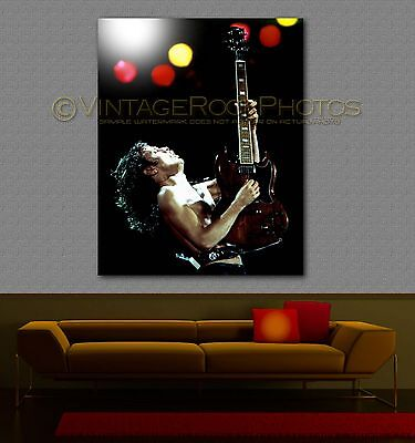 Angus Young  AC/DC Poster 16x20 inch '80s Live Concert Pro Canon Print   53