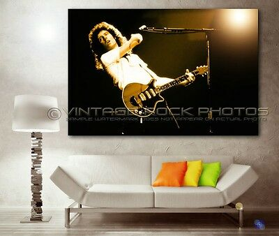 Brian May  Queen 20x30 Poster Size Photo Live Concert Pro Print Exclusive 115s