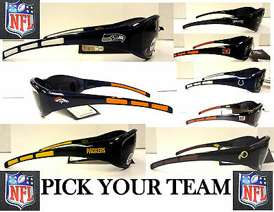 NFL Licensed Team Logo Sports Wrap Sunglasses UV 400 Protection- Pick Your Team!