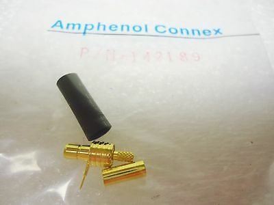 (NEW) Amphenol Connex 142189 RG 174, 316, LMR100 Cable 50 Ohm SMB Str Crimp Jack