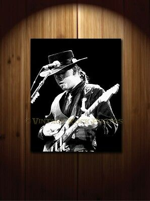 Stevie Ray Vaughan 16x20 inch Fine Art Gallery Canvas Print Framed Photo 16