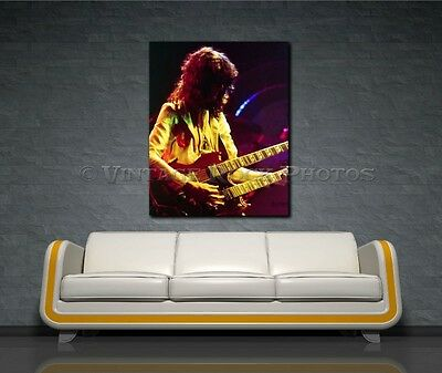 Jimmy Page Led Zeppelin 18x24 Canvas Framed Fine Art Gallery Museum Print 22