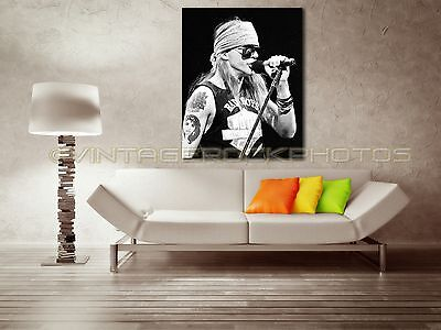 Axl Rose GnR 18x24 inch Canvas Framed Fine Art Gallery Museum Print 64