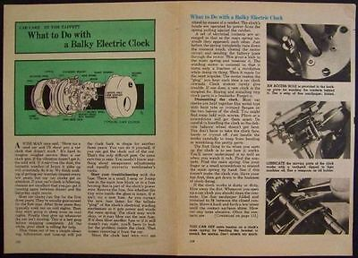 Servicing Auto CLOCKS Electric 1969 vintage How-To INFO
