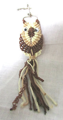 Macro Style Nylon Dark & Light Brown Cream  Shade Key Chain 7 1/2 Inches