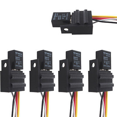 car 30a 12v spst micro relay kit for electric fan fuel pump light