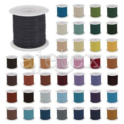 1 Roll 10m Real Round Leather Cord Thong Jewellery Making String 1/1.5/2/3mm