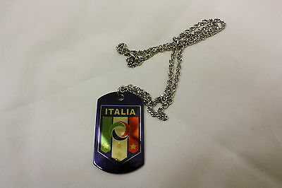 Italia Italy Azzuri Chain Dog Tags Football Soccer Supporter Necklace Unisex NEW