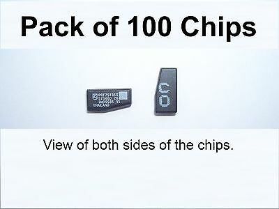 VAUXHALL BLANK CRYPTOGRAPHIC ID40 TRANSPONDER CHIPS - Pack of ONE HUNDRED CHIPS.