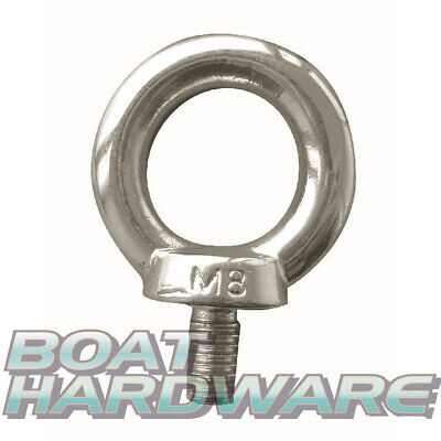 M8 Eye Bolt 8mm 316 Marine Grade Stainless Steel Shade Sail Boat Yacht DIN580