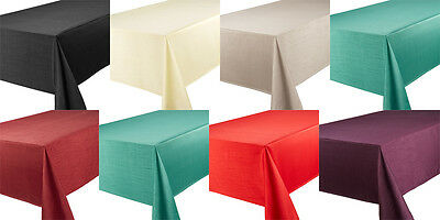 Quality Faux Silk Tablecloth All Sizes Round Oblong Runner Table Care Easy Clean