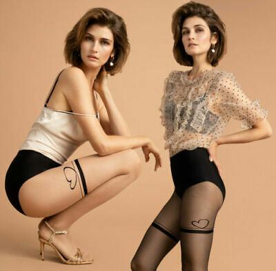 HANNA 20 DEN FIORE Sexy Patterned Tights IN BLACK