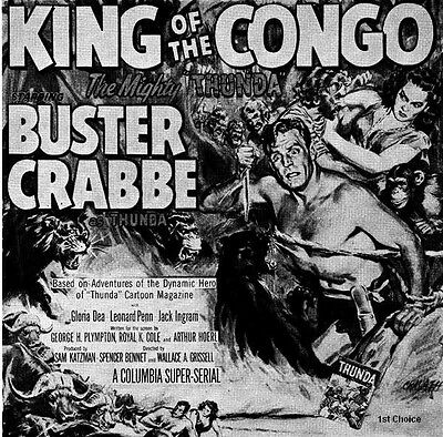 King of the Congo -Classic Movie Cliffhanger Serial DVD Buster Crabbe Gloria Dea
