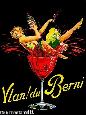 Vlan! du Berni Wine Beer Liqueur Vintage Advertisement Art Poster Print