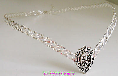 ****sale**** Spider Web Dark Fantasy Gothic Silver Metal Circlet Crown Ren Elven