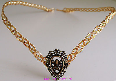 ****sale**** Spider Web Dark Fantasy Gothic Gold Metal Circlet Crown Ren Elven