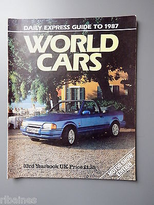 R&L Daily Express Guide to 1987 Cars Mercedes/Honda/Peugeot/Rover/Jaguar etc