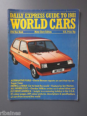 R&L Daily Express Guide to World Cars 1981 Datsun/Citroen/Mazda/Vauxhall/Austin