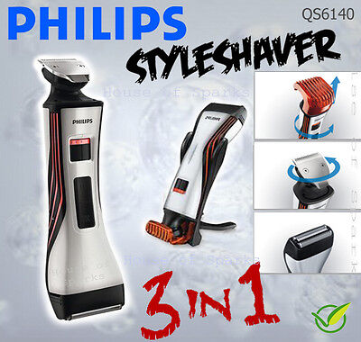 Philips QS6140 All-in-One Pro Styler Foil Shaver Trimmer *CORDLESS + WATERPROOF*