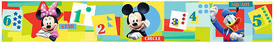 Bordüre Disney Mickey Mouse Minnie Mouse Donald Duck Tapeten Borte Zahlen Sterne