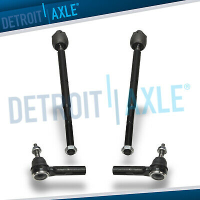 4 pc Set NEW Inner + Outer Tie Rod for Dodge Charger Magnum 300 -  2WD
