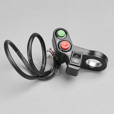 """Motorcycle ATV Bike Scooter Offroad 7/8"""" Switch Horn Turn Signals On/Off Light"""