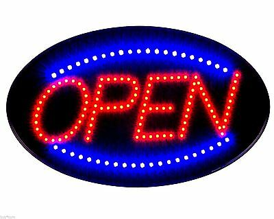 Ultra Bright Led Neon Light OVAL OPEN w/ Motion Animation ON/OFF switch Sign R30