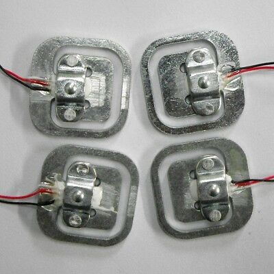 4pcs 50Kg Body Load Cell Weighing Sensor Resistance strain Half-bridge Total