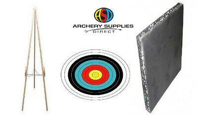 Archery Leisure Foam Target Boss Mat 80 x 80 x 7cm Package With Stand & Faces