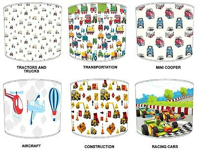 Transportation Lampshades Ideal To Match Children`s Duvets Bedding & Curtains