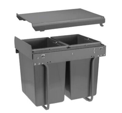RECYCLE BIN PULL OUT KITCHEN WASTE BIN 400MM - 40 LTR With Soft Close System