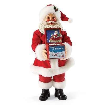 POSSIBLE DREAMS Christmas Clothtique Santa Claus Musical 4038737 NICK-IN-THE-BOX