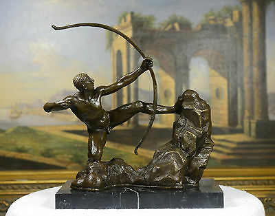 "Signed A. Bourdelle. Bronze Statue ""Hercules the Archer"" Greek Myth Sculpture"