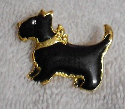 Scotty Scottie Dog Gold And Black Apparel Pin