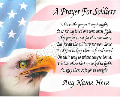 A Prayer For Soldiers Personalized Print Art Poem Memory Gift