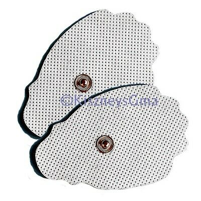 Replacement Electrodes Pads (10) Large - for Digital Massagers, TENS Snap on