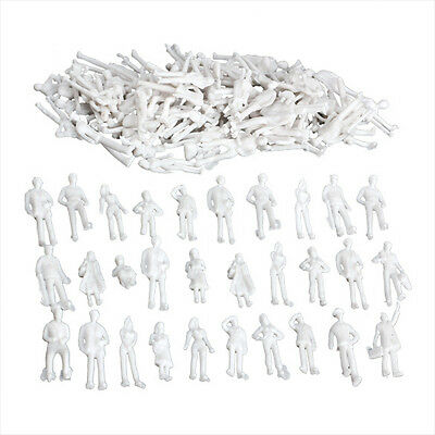 100PCS Figures 1:200 Scaled Models Train Building People for Layout New