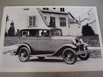 1930 31 FORD MODEL A TOWN SEDAN 4DR.  12 X 18   PHOTO   PICTURE