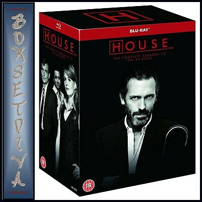 House M.d. Complete Collection - Seasons 1 2 3 4 5 6 7 & 8   * Brand New Blu-Ray