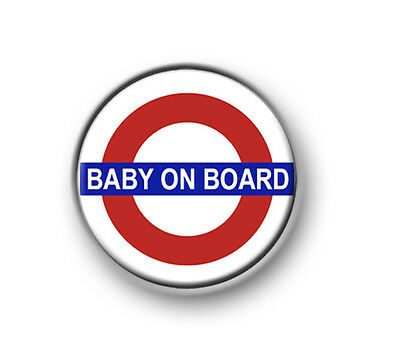 """BABY ON BOARD 1"""" / 25mm pin button / badge / mother / father / family / pregnant"""