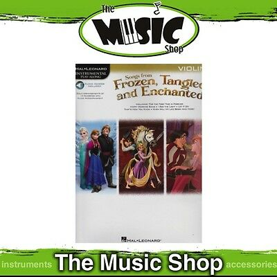 New HL Play Along: Songs from Frozen, Tangled & Enchanted for Violin Music Book