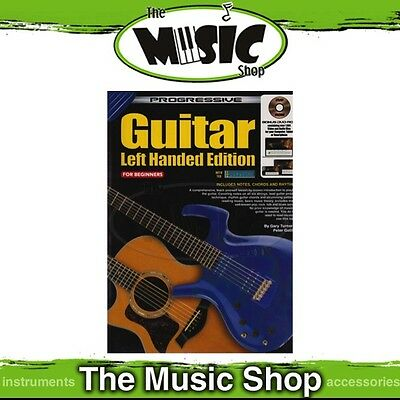 New Progressive Guitar: Left-Handed Beginners Edition Music Tuition Book & DVD