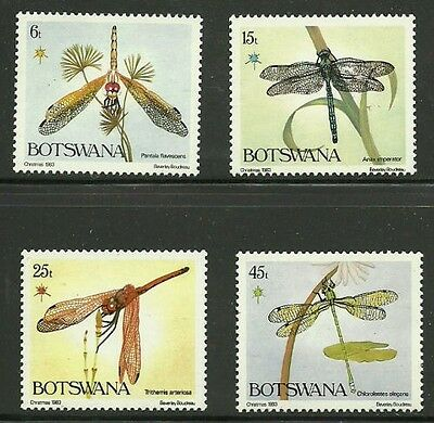 Album Treasures Botswana Scott # 337-340 Dragonflies Mint NH