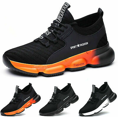 New Mens S3 Leather Safety Work  Boots Lightweight Composite Toe Cap Shoes Sizes