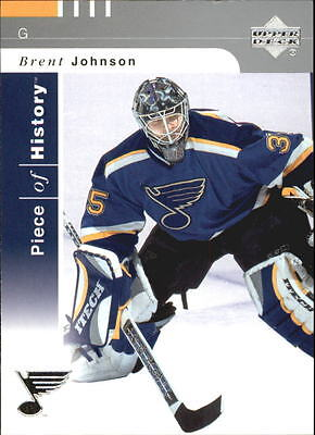 2002-03 (HKY) UD Piece of History #79 Brent Johnson