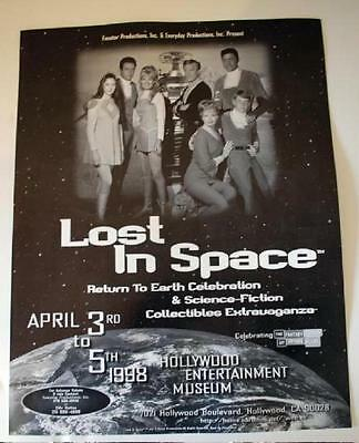 Rare 1998 Lost in Space Reunion Comic Con Show Poster Robot + Vintage Full Cast