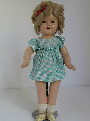 "18"" 1930's  SHIRLEY TEMPLE Composition Doll"