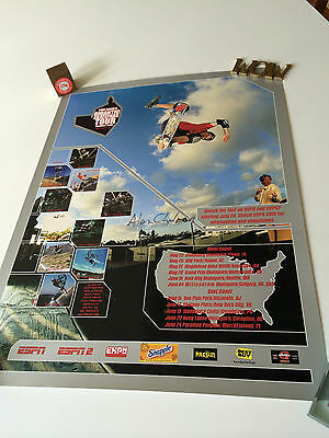 Tony Hawk's Gigantic Skatepark Tour '01 Poster Signed by ALEX CHALMERS