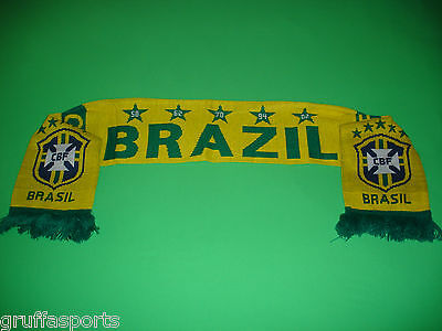 Brazil Jacquard Scarf Official CBF Licensed Soccer Football CBF New