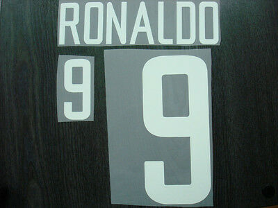 VINTAGE! RONALDO #9 Brazil Away World Cup 2002 Name Number